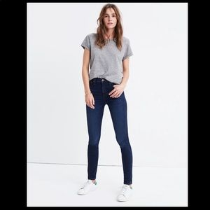 """MADEWELL▪️10"""" High Rise Skinny in Hayes Wash. 27T"""